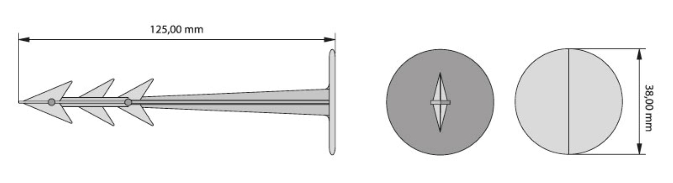 Cuie din plastic GeoPeg pentru fixare in sol  200 mm  1 cutie x 20 buc