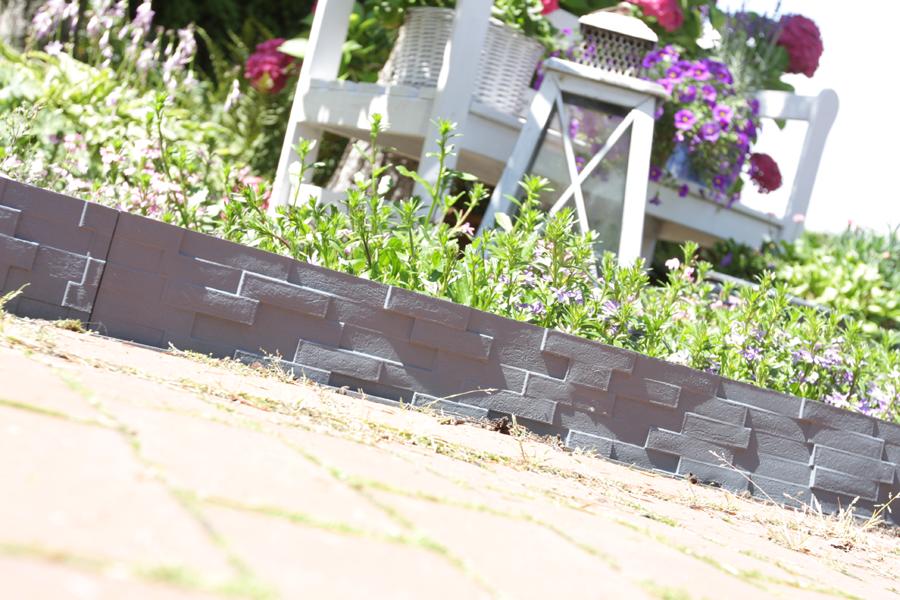 Gardulet decorativ StonePalisade  accesoriu pentru gradina  culoare Antracit (gri inchis) lungime 237 m