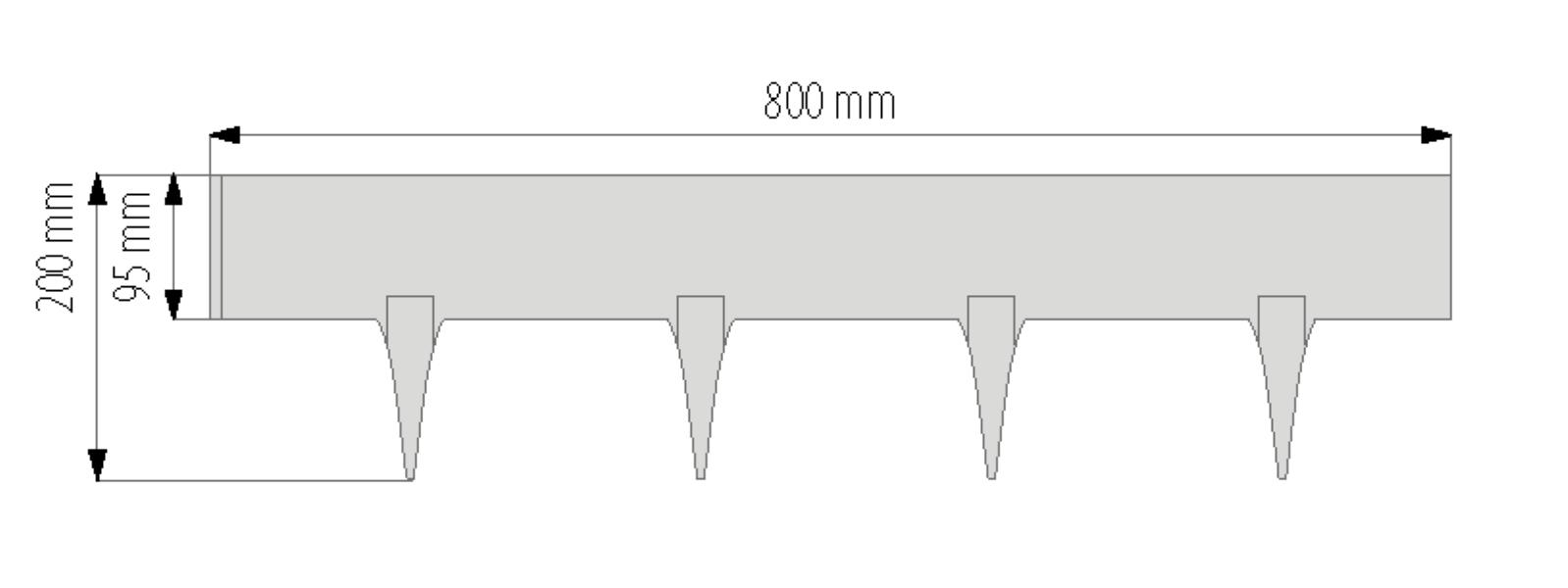 Gardulet decorativ StonePalisade  accesoriu pentru gradina  culoare Maro deschis lungime 237 m