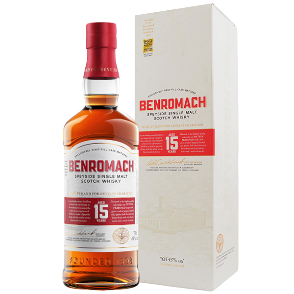 Benromach 15yo first fill, whisky 0.7l