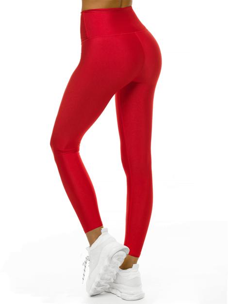Colanți dama lucioși culoare roșu , material lycra