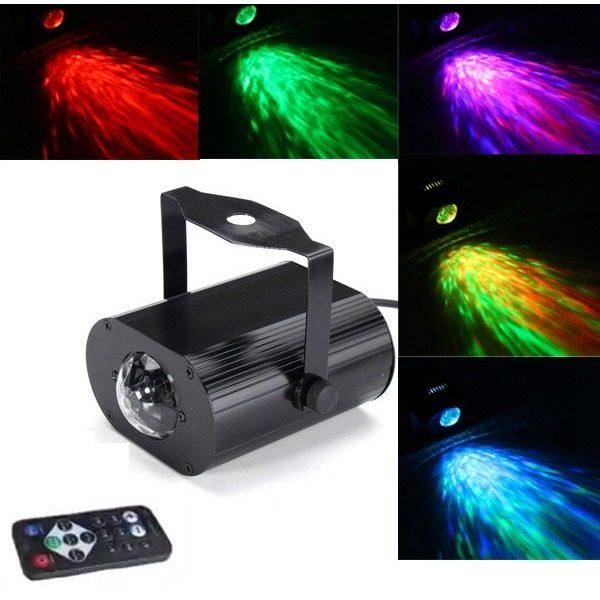 Proiector lumini led disco cu efect valuri, water ripples light