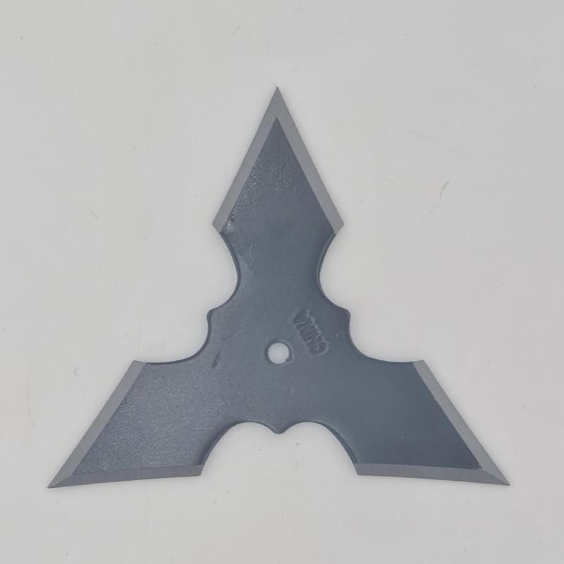Steluta ninja pentru aruncat la tinta, neagra, 3 colturi, 6 cm