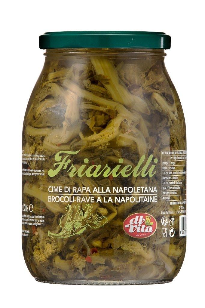 Conserva italiana din broccoli in ulei de floarea soarelui di vita friarielli 970ml