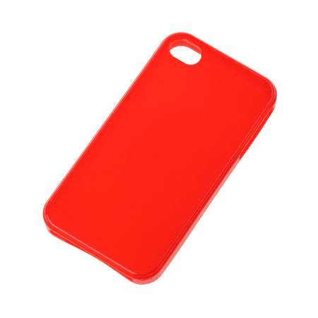 Husa back cover case iphone 4 rosu