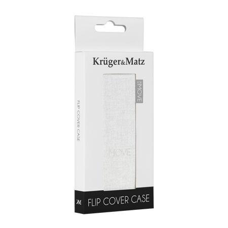 Husa flip cover kruger&matz move alb