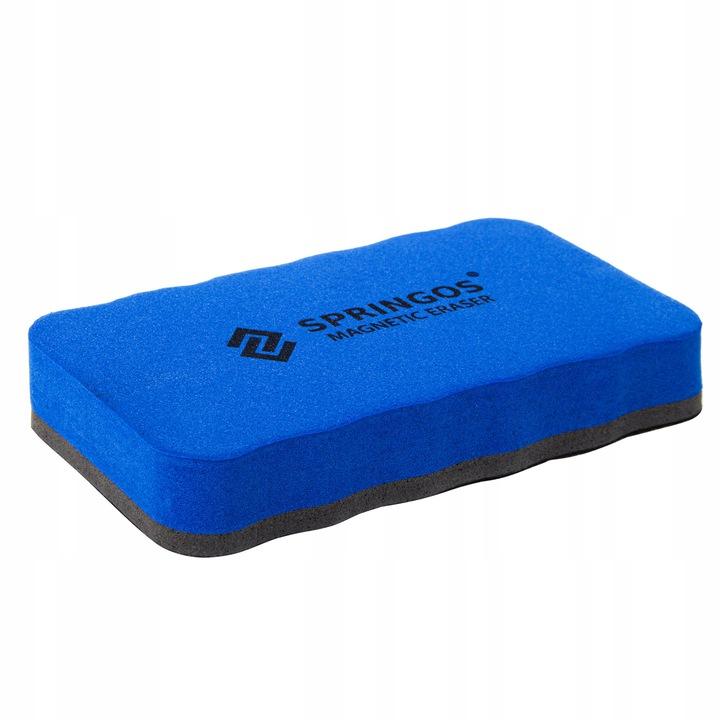Burete magnetic de sters pentru tabla magnetica whiteboard, albastru/negru