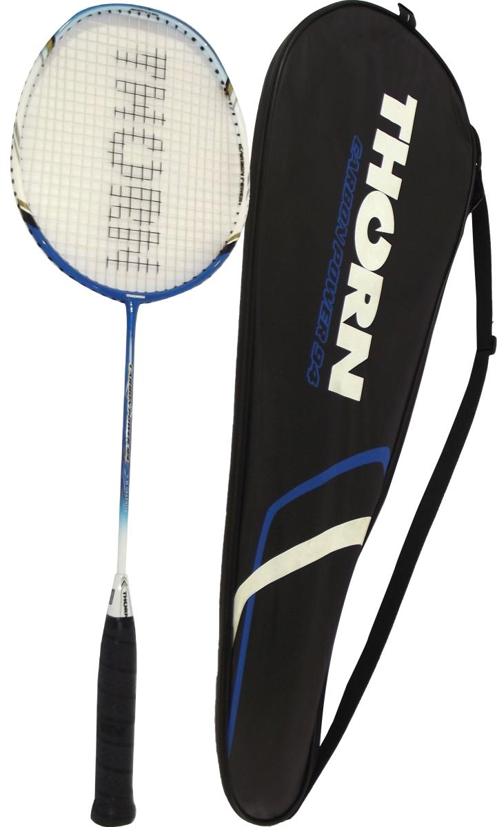 Racheta de badminton Thorn Carbon Power 94 , cu husa transport, Albastru/negru