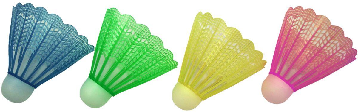 Set 4 fluturasi badminton, dimensiune 8x6.5 cm, multicolor
