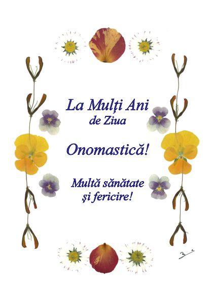Set 10 Felicitari Oshi, Ziua Onomastica, FMS 03a, La Mutli Ani de Ziua Onomastica...