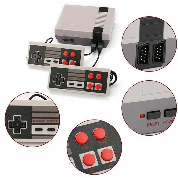 Mini consola retro pentru jocuri pe televizor cu 620 jocuri si 2 joystick incluse