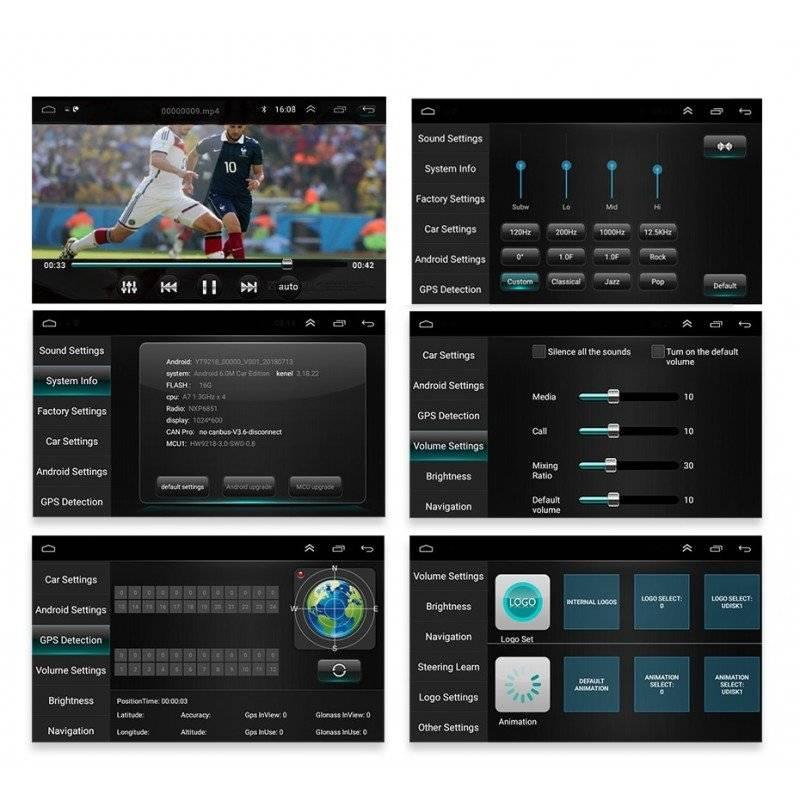 Navigatie radio mp3 2din android ecran ips touchscreen bluetooth gps 2gb+32gb