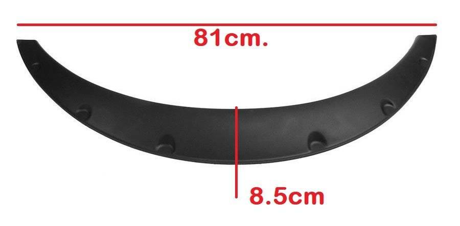 Set bandouri protectie laterala aripa overfender universale 4buc carbon 81 x 8,5
