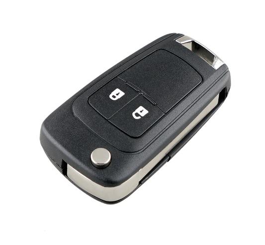 Cheie tip briceag, completa, cu chip si telecomanda, pentru Opel, 2 butoane, 433Mhz, chip PCF4976, Lama HU100