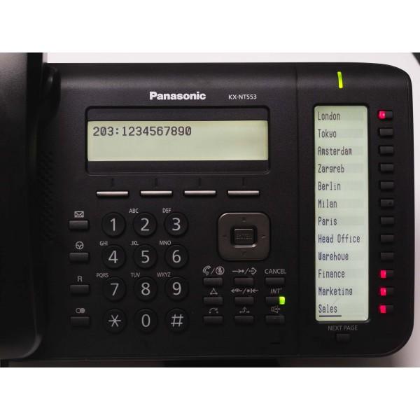 Telefon IP proprietar Panasonic KX-NT553X-B, Negru