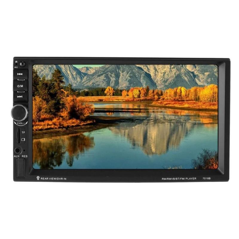 Player auto multimedia Mp5 7018B display touch screen 7/Bluetooth/USB/AUX/Card SD/Radio FM