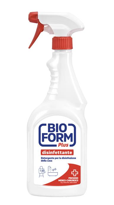 Detergent dezinfectant pentru suprafete cu pompita, Bioform Plus, 750ml