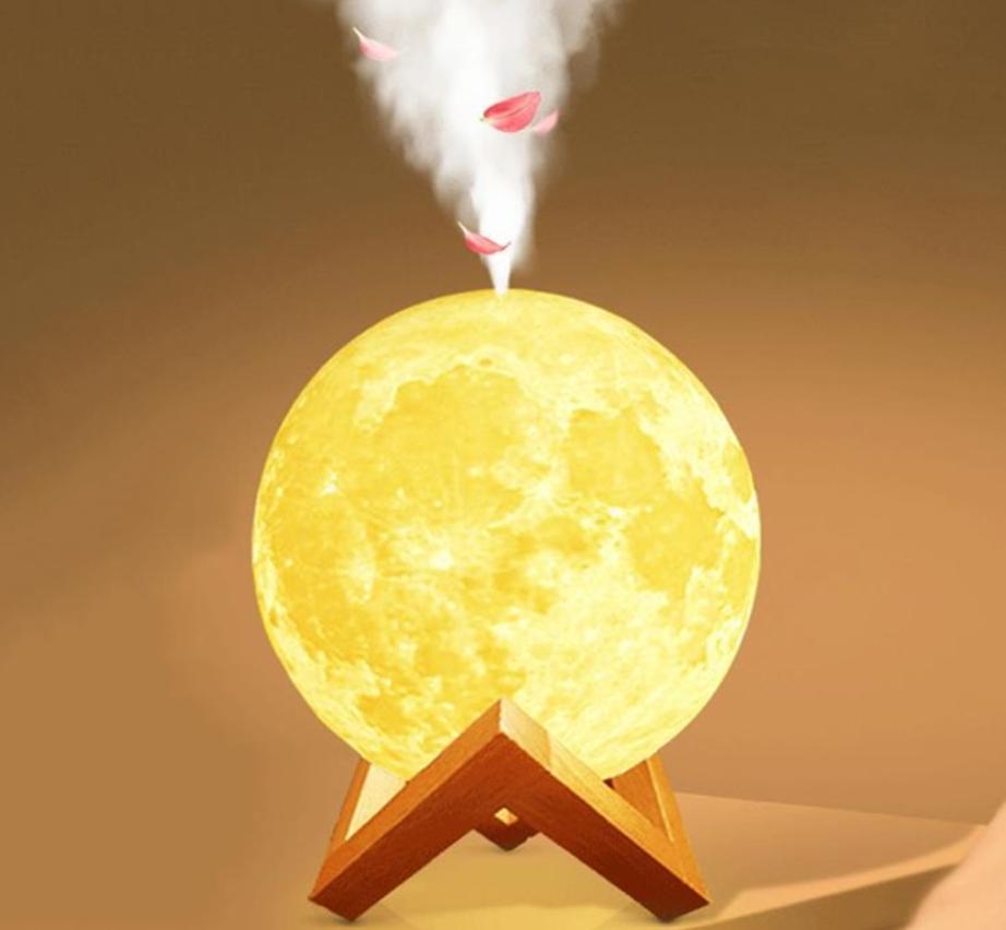 Lampa luna cu umidificator difuzor de aromaterapie led
