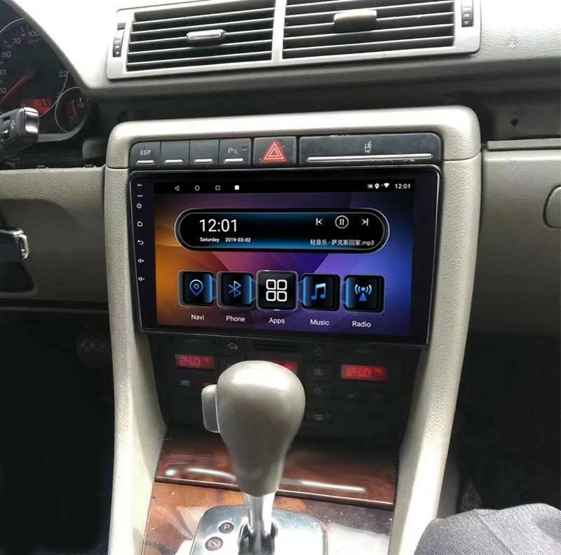 "Navigatie audi a4 b6 2001-2005 2din android ecran ips touchscreen bluetooth gps 1gb+16gb 9"""