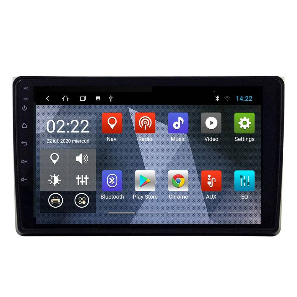 "Navigatie audi a4 b7 2005-2008 2din android ecran ips touchscreen bluetooth gps 1gb+16gb 9"""
