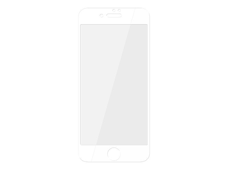 Folie de sticla 3d pentru protectie telefon smartphone iphone 7 plus, display 5.5 inch, culoare alb