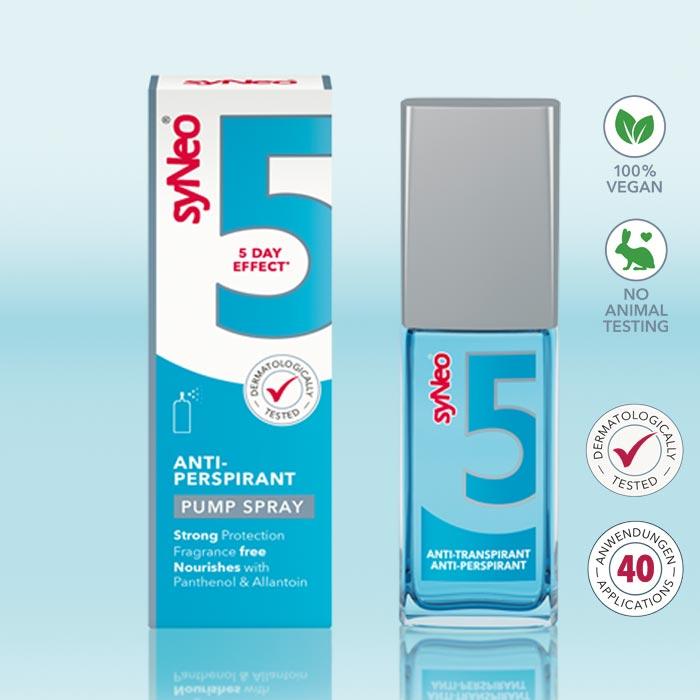 Antiperspirant Unisex Pumpspray, SyNeo 5, 30 ml