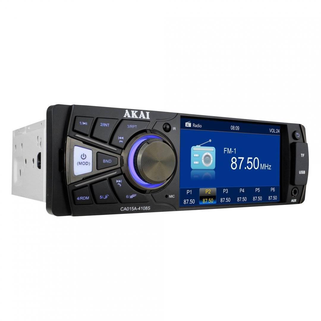 Radio auto 4 x 25 w, 1 din, bluetooth, usb, slot card sd / mmc, aux  display tft 4 inch, telecomanda