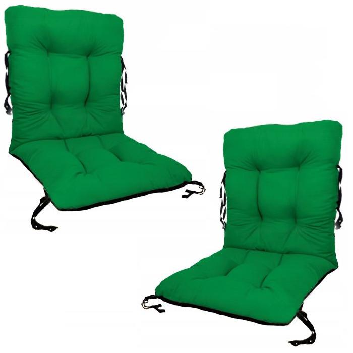 Set 2 perne sezut/spatar pentru scaun de gradina sau balansoar, 50x50x55 cm, culoare verde