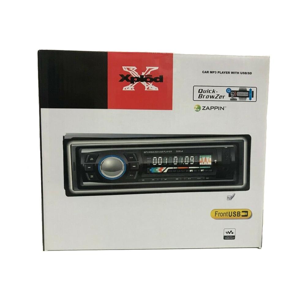 Radio mp3 player auto zappin xplod, usb, sd, aux