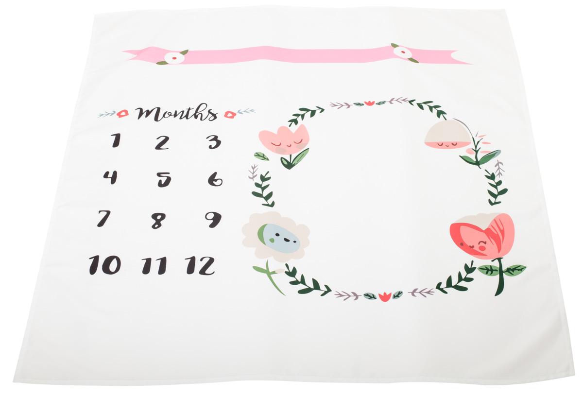 Paturica foto pentru bebelusi, Roz, 103 x 103 cm