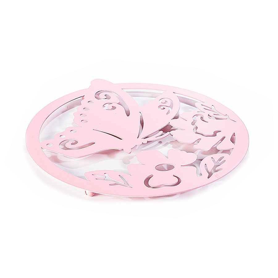 Suport pentru vase fierbinti din metal roz Ø 22 cm