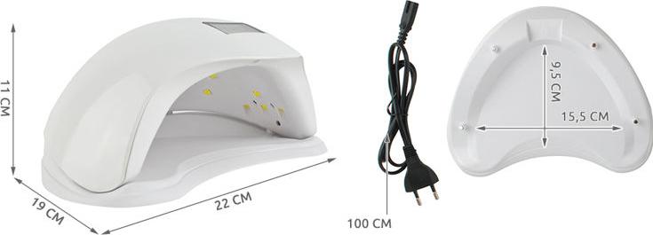 Lampa uv LED pentru unghii cu gel UV alba