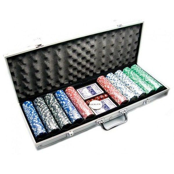Set poker cu 500 jetoane si geanta tip diplomat inclusa