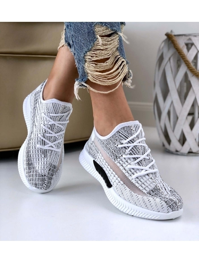 Adidasi Dama Jermys Alb Vara 2021