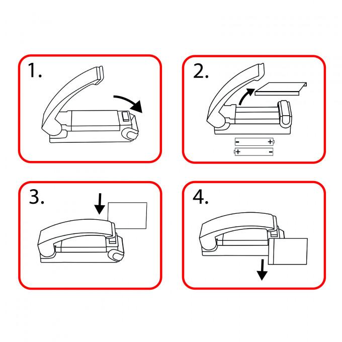 Aparat manual mini de sudat folie mat. plastic - 57270