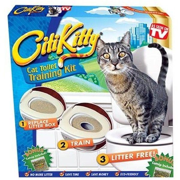 Kit pentru igiena si educarea pisicilor la toaleta Citi Kitty