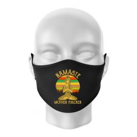 Masca personalizata reutilizabila namaste motherfucker negru