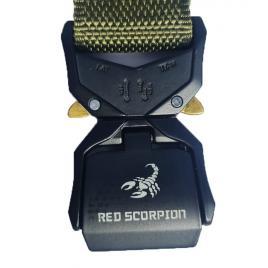 Curea tip militar, 4U®, RED SCORPION, verde, foarte rezistenta, cupla rapida din aliaj, carabina dedicata