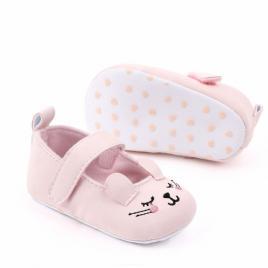 Pantofiori pentru fetite - pink cat (marime disponibila: 6-9 luni (marimea 19...