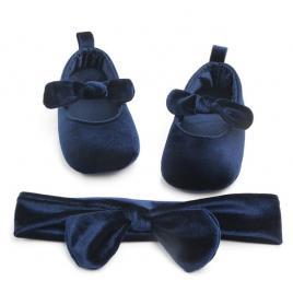 Balerini bleumarine cu bentita (marime disponibila: 3-6 luni (marimea 18...
