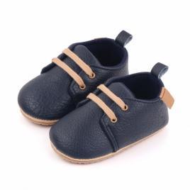 Pantofiori eleganti bleumarine cu sireturi (marime disponibila: 9-12 luni...