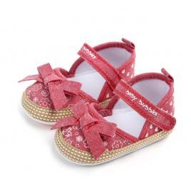 Pantofiori fetite cu fundita (marime disponibila: 9-12 luni (marimea 20...