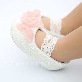 Pantofiori pentru fetite - fluturasul roz (marime disponibila: 6-9 luni...