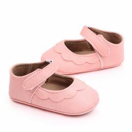 Pantofiori roz cu volanas pentru fetite (marime disponibila: 6-12 luni (marimea...