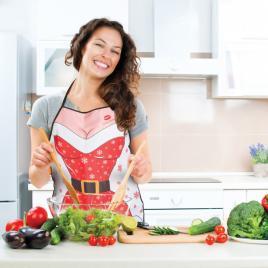 Şorţ de bucătărie, model Crăciun - dame - 55927B