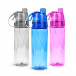 Plosca sport cu pulverizator - 600 ml, 3 culori - 57218A
