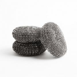 Set burete de spalat vase din fibre de otel - 3 buc. - 56157A