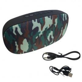 Boxa portabila cu 2 difuzoare, microfon, bluetooth, TF slot, army