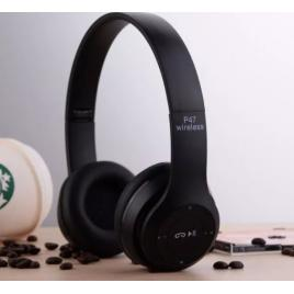 Casti wireless MRG P47 Negru cu bluetooth si microfon