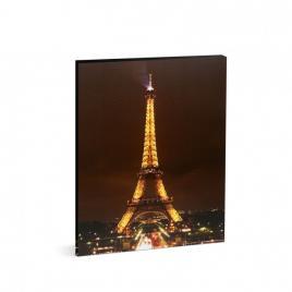 "Tablou decorativ cu lumina LED - ""Turnul Eiffel"" - 38 x 48 cm"